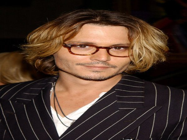 Johnny Depp with Grown Out Hair, Wavy and Streaked Blond