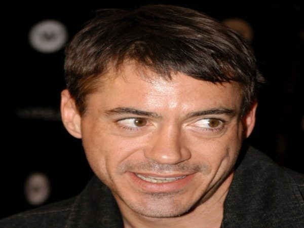 Robert Downey with Short Hair and Messy Bangs