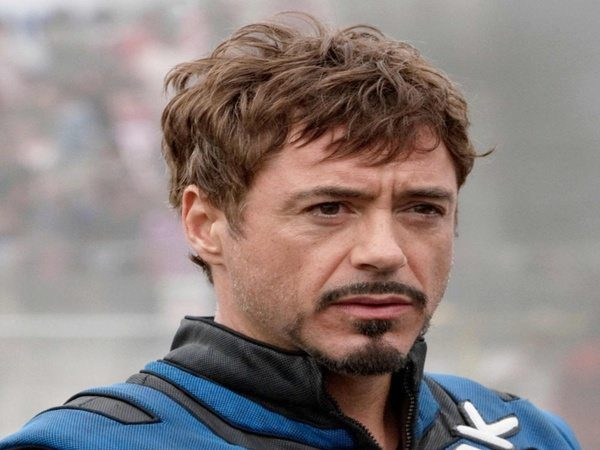 Robert Downey In Iron Man 2 with Messy Hair