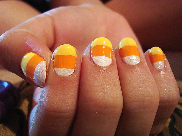 Candy Corn Nails - 10 Cool Candy Corn Nail Designs
