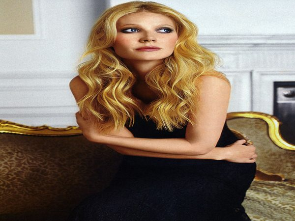 Gwyneth Paltrow with Strawberry Blond Long Curly Hair