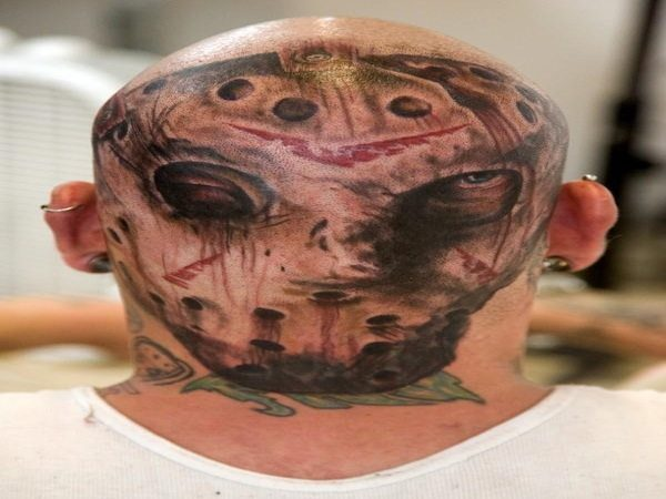 Jason Voorheas Mask Head Tattoo