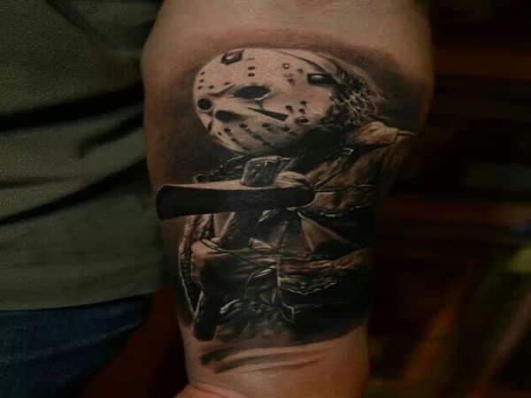 Jason Voorhees with Axe Tattoo
