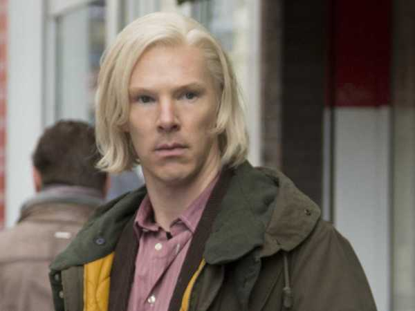 Benedict Cumerbatch with Chin Length Bleached Blond Hair