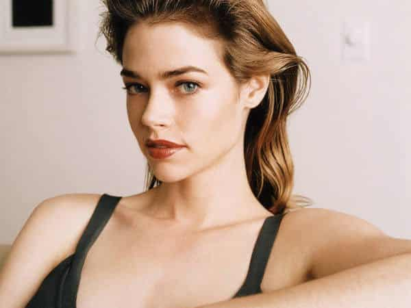 Young Denise Richards with Shoulder Length Straight Brown Hair