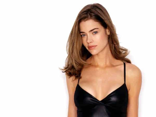 Young Denise Richards Shoulder Length Straight Brown Hair