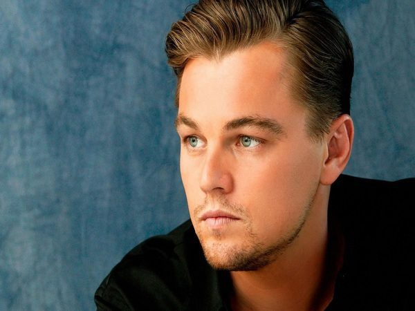 Leonardo DiCaprio with Brown Slicked Back Hair