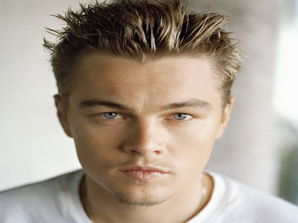 Leonardo DiCaprio Long Spiked Bangs with Shaved Sides