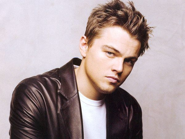 Leonardo DiCaprio with Spiked Tossled Hair