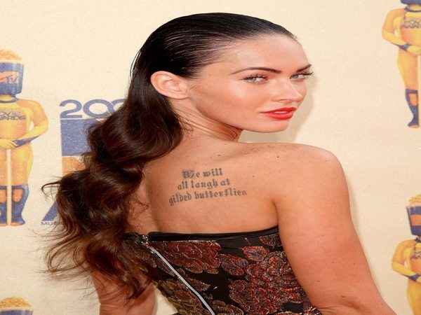 Megan Fox Slicked Back Look