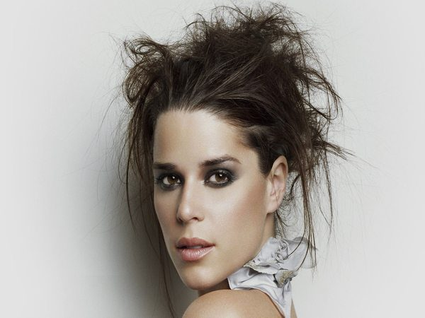 Neve Campbell Wild Hair Updo