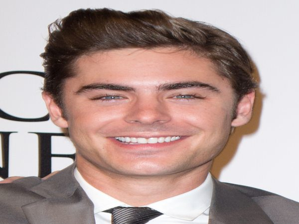 Zac Efron Side Swept Bangs with Short Hair
