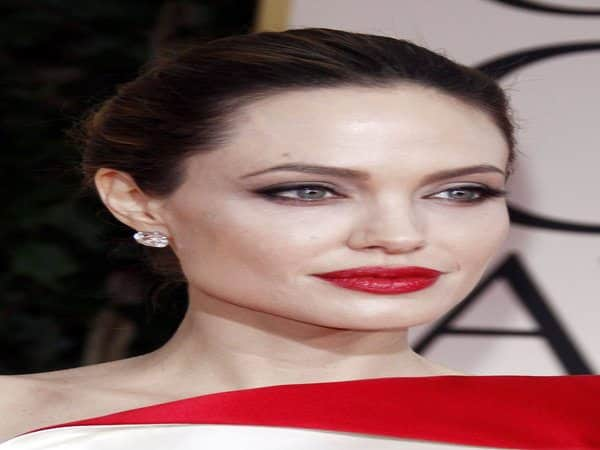 Angelina Jolie with Slicked Back Bun Hairstyle