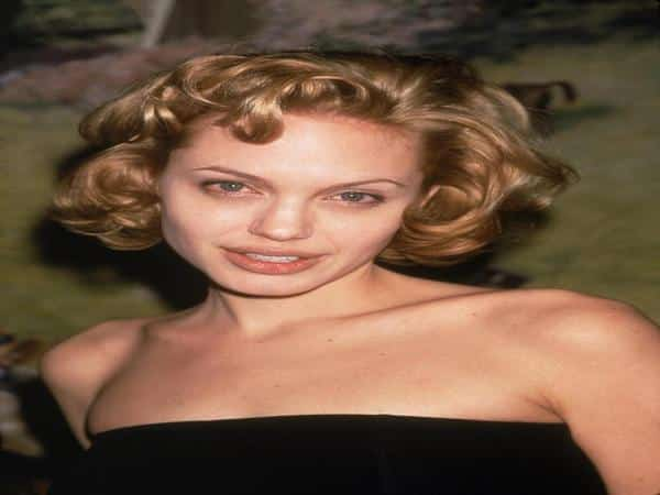 Angelina Jolie with Curly Short Blond Hair