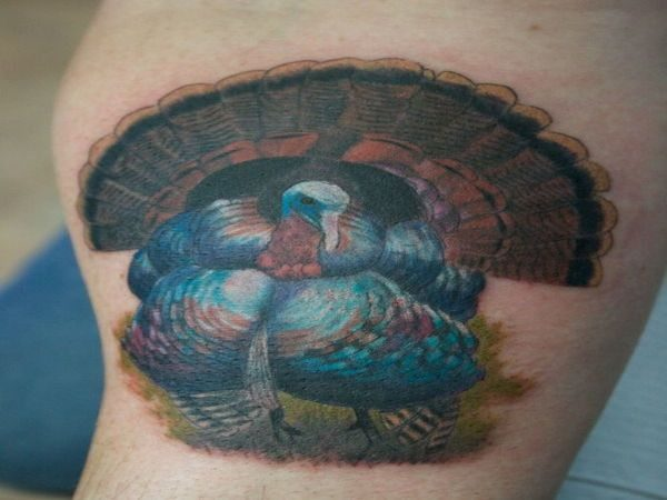 Colored 3-D Turkey Tattoo