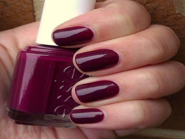 Wine Colored Winter Nails