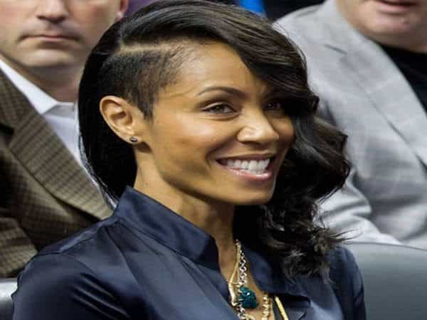 Jada Pinkett Smith One Shaved Side with Long Curly Hair