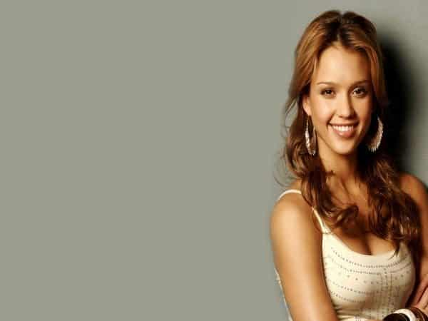 Jessica Alba Long Curly Light Brown Hair
