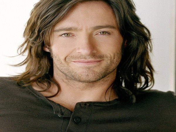 Hugh Jackman Long Brown Shaggy Hair with Waves