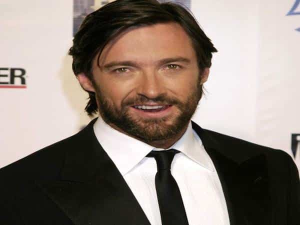 Hugh Jackman Brunette Hair with Long Bangs