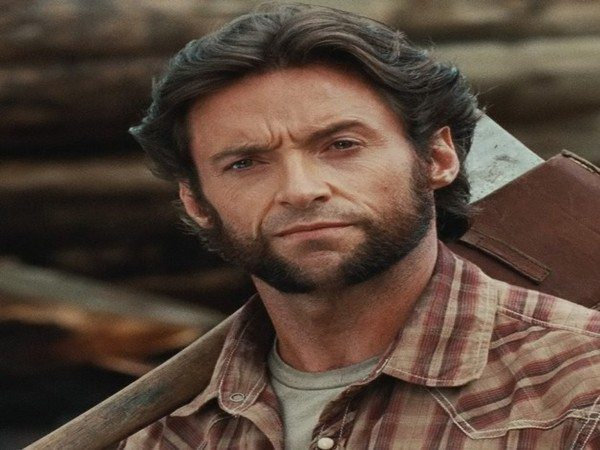 Hugh Jackman Brown Hair Grown Out Hair Parted In the Middle and Feathered Back