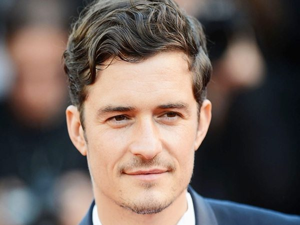 Orlando Bloom Short Hair with Curly Bangs