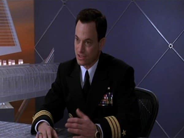 Gary Sinise Dark Hair Parted to the Side