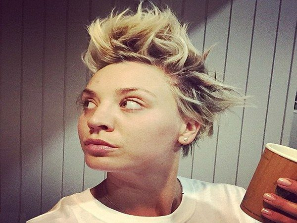 Kaley Cuoco Spiked Hair