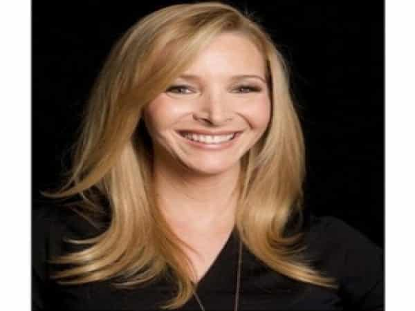 Lisa Kudrow Straight Blond Hair Parted to the Side