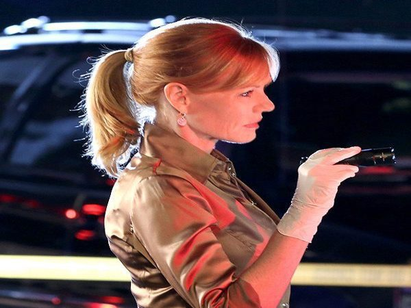 Marg Helgenberger Blonde Pony Tail