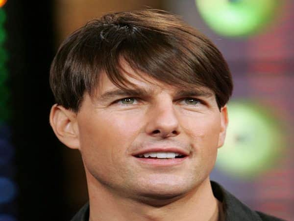 Tom Cruise Short Hair Long Bangs