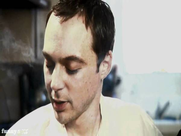 Jim Parsons Grown Out Straight Hair