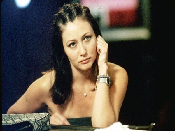 Shannen Doherty Shoulder Length Hair with Corn Rows
