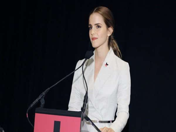 Emma Watson Middle Parted Pony Tail