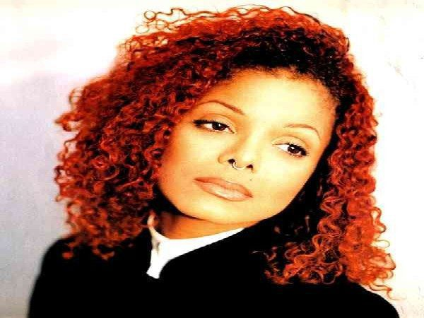 Janet Jackson Red Curly Hair