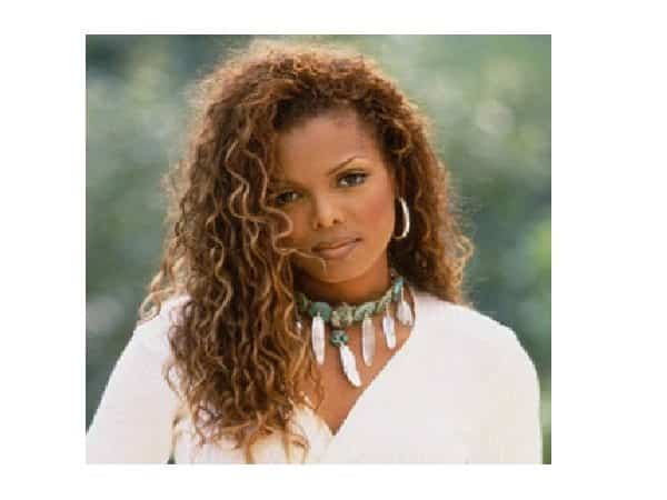 Janet Jackson Long Brown Curly Hair