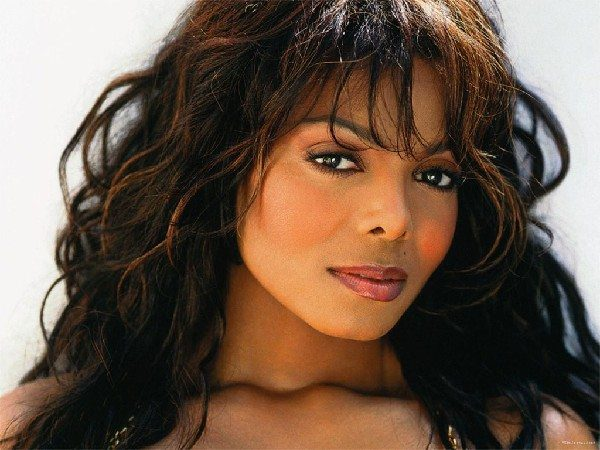 Janet Jackson Long Messy Brunette Hairstyle