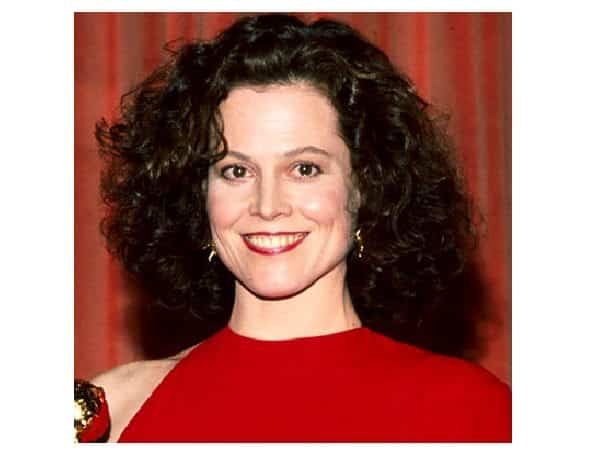Sigourney Weaver Dark Shoulder Length Curly Hair