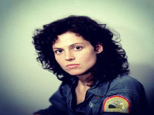 Young Sigourney Weaver Brunette Medium Length Hair