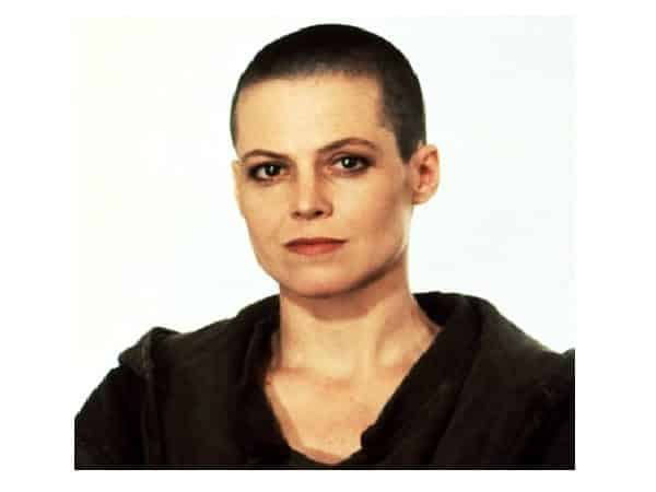 Sigourney Weaver Shaved Head Hairstyle