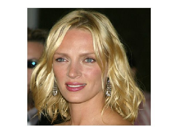 Uma Thurman Platinum Blond Straight Bob