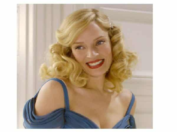 Uma Thurman Curly Blond Hair