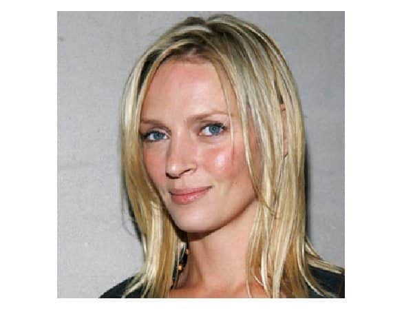 Uma Thurman Straight Blond Hair
