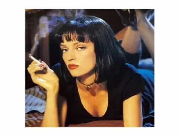 Uma Thurman Short Black Straight Bob