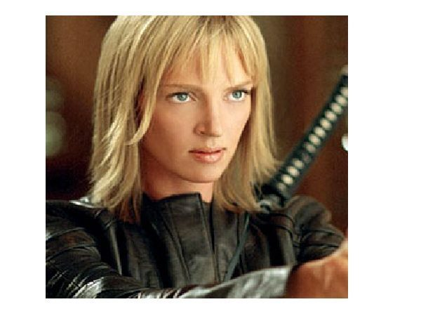 Uma Thurman Short Straight Blond Hair