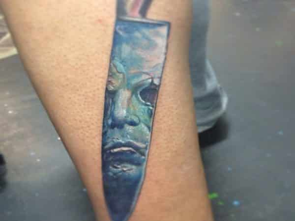 Butcher Knife with Michael Myers Reflection