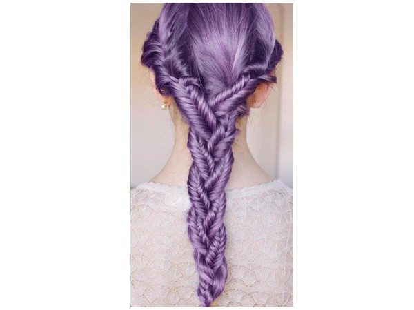 Long Lavender Braided Hair