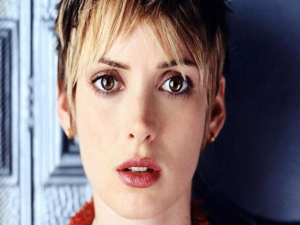 Winona Ryder Short Hair with Blond Bangs