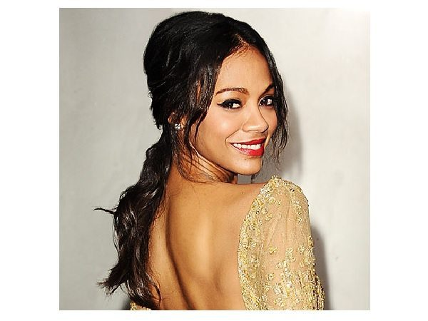 Zoe Saldana Pony Tail Hairstyle