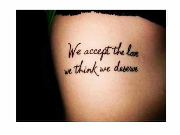 Accept the Love Rib Tattoo